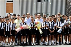 Lãnh đạo Liên đoàn bóng đá Việt Nam thăm Học viện Juventus Việt Nam