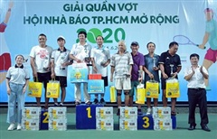 Hấp dẫn Giải Quần vợt Hội Nhà báo TP Hồ Chí Minh mở rộng năm 2020