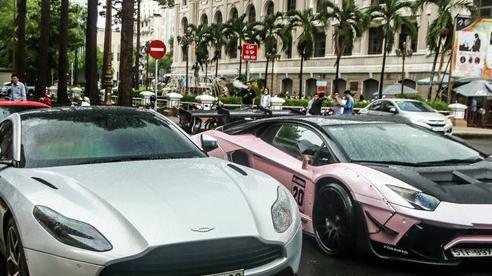 Ferrari F8 Tributo của Doanh nhân Nguyễn Quốc Cường lần đầu hội ngộ cùng dàn siêu xe của đại gia Sài Gòn
