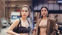 Sao Việt diện áo ngắn đến choáng váng: Minh Tú, Ngọc Trinh chỉ vừa đủ che vòng 1