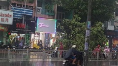 Mưa lớn ở Sài Gòn kéo dài hơn 2 giờ đồng hồ khiến nhiều tuyến đường ngập nặng, cây xanh ngã đổ