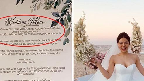 Lộ diện thực đơn đám cưới Phanh Lee và tổng giám đốc tập đoàn nghìn tỷ: Riêng món khai vị thôi đã toàn nguyên liệu đắt tiền