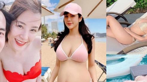 Đông Nhi - Sara Lưu táo bạo diện bikini khoe bụng bầu, nhưng nóng bỏng nhất lại là mỹ nhân này