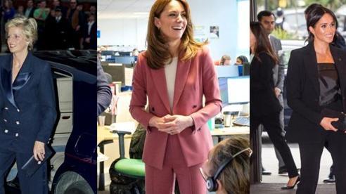 Bộ 3 mẹ chồng nàng dâu Diana -Kate và Meghan từng gây tốn giấy mực với những bộ suit quyền lực