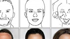 Công nghệ AI của Trung Quốc 'hô biến' tranh phác họa nguệch ngoạc thành thành ảnh chân dung sống động đến không ngờ