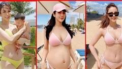 Chiêm ngưỡng thân hình nóng bỏng mắt của 'Hội bà mẹ bỉm sữa' đình đám của showbiz Việt