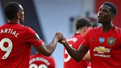 Pogba lột xác, Martial lập hat-trick, Man United đè bẹp 'vua lì đòn' Premier League
