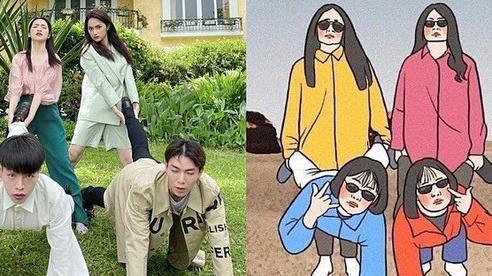 Hòa Minzy và hội bạn thân tư vấn khán giả chụp ảnh vui nhộn khi đi chơi nhóm