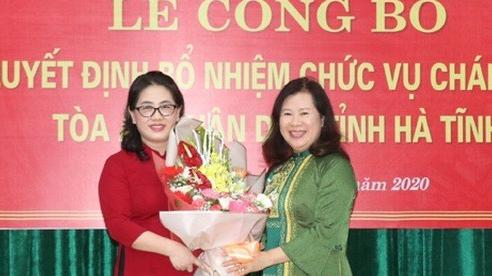 Bà Phan Thị Nguyệt Thu giữ chức Chánh án Tòa án nhân dân tỉnh Hà Tĩnh