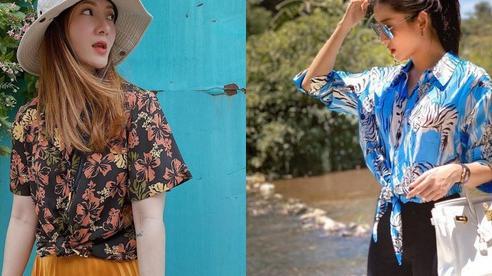 Style Hè của bạn sẽ thật nhàm chán nếu còn chưa sắm ngay 1 em áo họa tiết như sao Việt