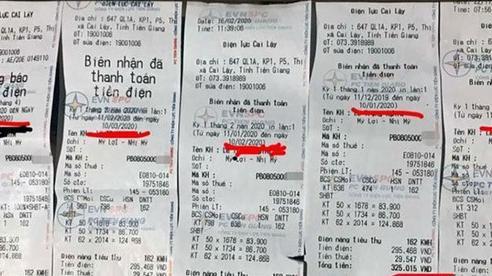 EVN Tiền Giang nhận sai sót 'hoá đơn tiền điện 6 tháng liền giống nhau'