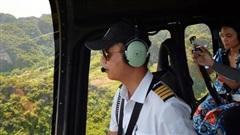 Đi Tràng An bằng máy bay: những vị khách đầu tiên đã được bay thử nghiệm ngắm cố đô trên trực thăng
