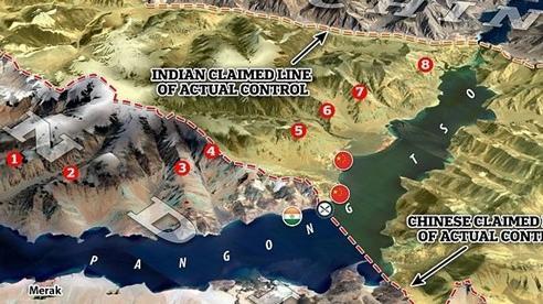 Kiên quyết đối đầu, Ấn Độ điều 12 tàu giám sát công suất lớn đến hồ Pangong giáp Trung Quốc