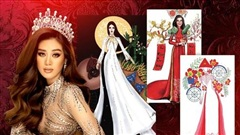 Top 10 trang phục dân tộc đậm dấu ấn Việt Nam cho Khánh Vân: Nhất hoa phượng, nhì bánh chưng