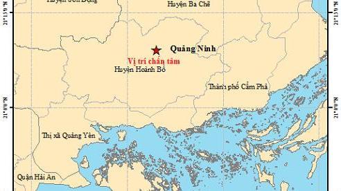 Quảng Ninh: Động đất 2,6 độ richter
