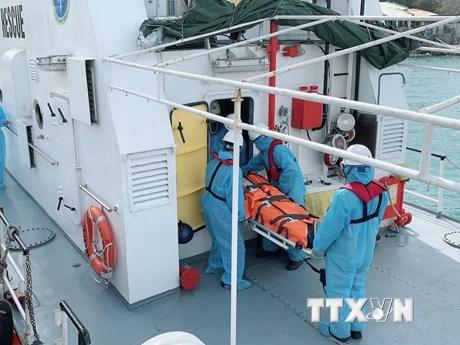 Cứu nạn thuyền viên người nước ngoài bị hôn mê trong hải trình
