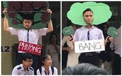 2 nam sinh đóng vai cái cây trên sân khấu nhưng chiếm hết spotlight của cả vở diễn