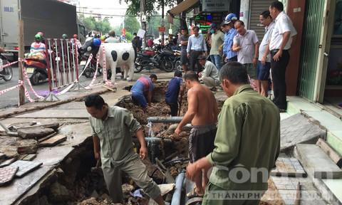 TP.Biên Hoà: Hố tử thần 'khủng' xuất hiện sau cơn mưa