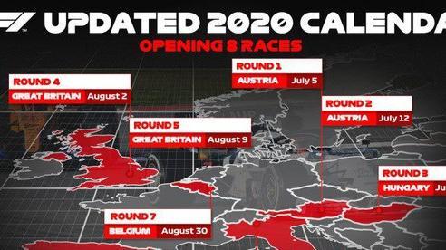 Lịch thi đấu F1 2020: Mới chốt xong 8 chặng đầu tiên
