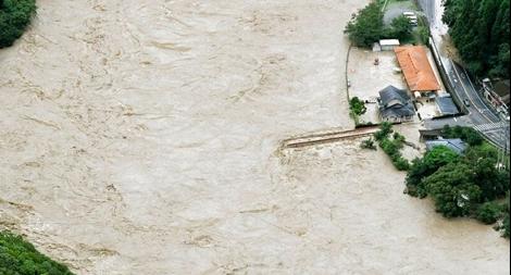 Mưa lũ kinh hoàng tại Nhật Bản khiến nhiều người mất tích
