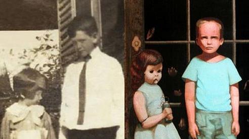 Bức tranh vẽ 2 em bé dựa trên ảnh thật gây rùng mình hàng chục năm qua bởi những bàn tay kỳ quái và liên quan đến 3 cái chết