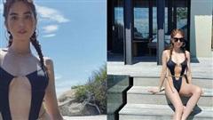 Ngọc Trinh mặc áo tắm đeo xiềng xích còn bạo liệt hơn hẳn Gigi Hadid, Kylie Jenner