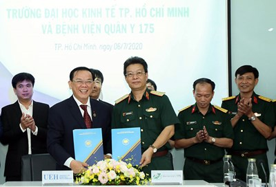 Bệnh viện Quân y 175 (Bộ Quốc phòng) và Trường Đại học Kinh tế TP Hồ Chí Minh ký kết hợp tác toàn diện