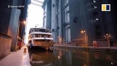 Xem thang máy 'khủng' nhất thế giới ở đập Tam Hiệp nâng tàu hàng nghìn tấn