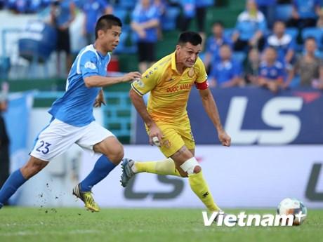 Than Quảng Ninh lội ngược dòng trước Nam Định dưới 'cơn mưa bàn thắng'