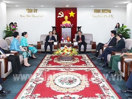 Thúc đẩy hợp tác giữa Bình Dương và các địa phương của Lào