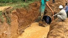 Đường ống nước sạch sông Đà tiếp tục gặp sự cố