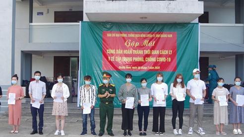 341 công dân hoàn thành thời gian cách ly tập trung ở Quảng Nam