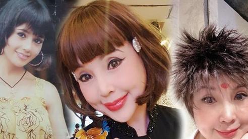 NSND Lan Hương gây choáng với kiểu tóc dựng đứng và khuôn mặt khác lạ ở tuổi U60