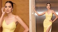 'Hổ chiến' MUV diện váy vàng khoe chân thon mướt mát, khí chất vô cùng khi làm MC