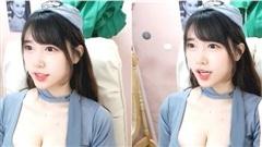 Chẳng làm gì, chỉ lên sóng ba hoa, cô nàng streamer Hàn Quốc xinh đẹp cũng kiếm được cả triệu view trực tiếp