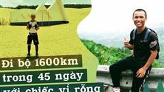 45 ngày đi bộ xuyên Việt với 0 đồng, chàng trai 23 tuổi vừa xin ăn, làm thuê vừa quyên góp được 127 triệu đồng cho người nghèo