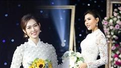 Diệp Bảo Ngọc & Thúy Diễm đẹp nao lòng trong tà áo dài ren trắng tinh khôi