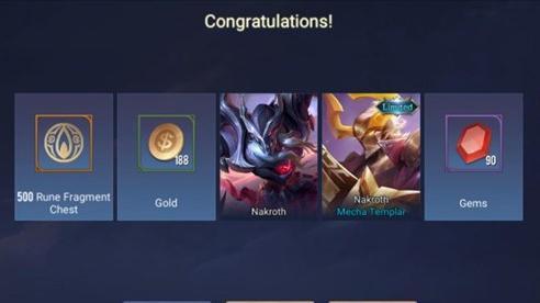 Liên Quân Mobile: Game thủ nhận FREE Nakroth ADC nhờ... sự cố kỹ thuật của hệ iOS