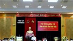 Thủ tướng đánh gia cao công tác giải ngân vốn đầu tư công của Ninh Bình