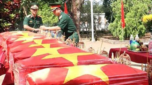 Truy điệu, an táng hài cốt liệt sỹ thuộc Trung đoàn 271 tại tỉnh Đắk Nông