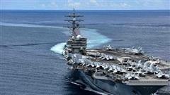 Tàu sân bay Mỹ diễn tập 'đỉnh cao' ở biển Đông