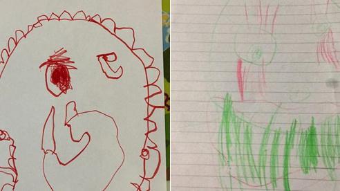 Đứng yên 30 phút cho con vẽ chân dung, mẹ nhận tranh mà thấy như 'người dưng ngược lối'