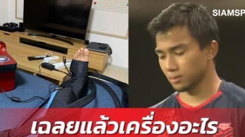 Cầu thủ triệu đô của Thái Lan khoe 'đồ chơi' mới, fan tưởng bị chấn thương nặng nhưng thực ra là vật dụng đã quen thuộc với Văn Lâm, Văn Hậu