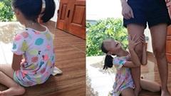 Bé gái khóc nức nở, ôm chặt chân không cho mẹ bắt mèo, tấm ảnh cuối khiến tất cả vừa thương vừa buồn cười