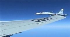 Máy bay Nga truy đuổi trinh sát cơ Mỹ bay gần khu tập trận