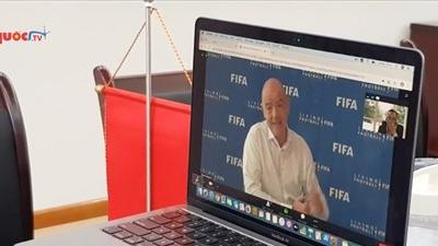 FIFA hỗ trợ VFF hơn 1 triệu USD, đánh giá cao nỗ lực của bóng đá Việt Nam