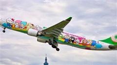 Máy bay chủ đề Hello Kitty chính thức cất cánh trong Ngày của Cha, có điều hành khách sẽ… không đi đến đâu cả