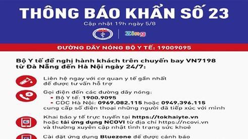 Khẩn: Tìm những người trên chuyến bay từ Đà Nẵng đến Hà Nội