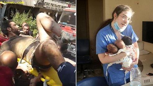 Người đàn ông Lebanon được giải cứu sau 10 tiếng bị chôn trong đống đổ nát