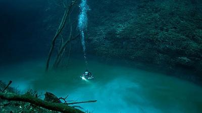 Kinh ngạc 'sông' ngầm tự chia tách nước ngọt ở trên, nước mặn phía dưới